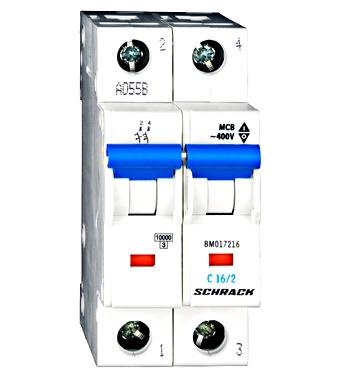 Sicherungsautomat, Kennlinie C, 16A, 2-polig, 10kA - Online Shop ...