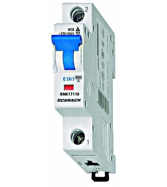 Aut. osigurač 10A/C/1 pol 6KA IEC/EN 60 898 10KA IEC 947-2