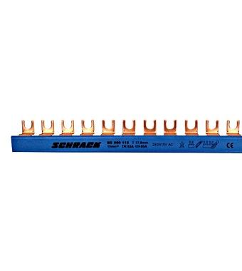 C-Busbar 1-pole, break-out, 10mm², blue