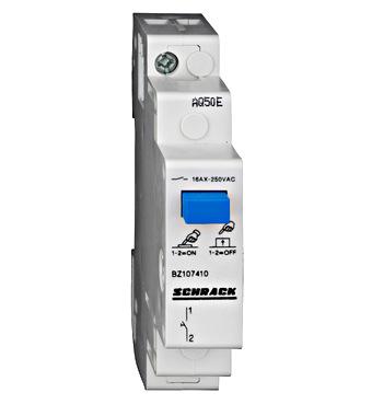 Modular Push-button Switch with Push-button, 1 NO, 16A - Online Shop