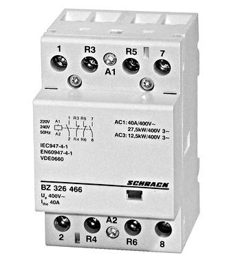 Modular contactor 40A, 2NO+2NC, 230VAC 3MW - Online Shop - Schrack on