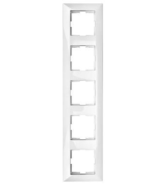 five gang frame, white - Online Shop - Schrack Technik International