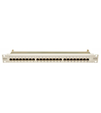 "Prespojni panel 24xRJ45 cat.6 de-embedded LSA, STP, 19"", 1U"