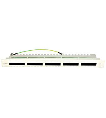 "Prespojni panel 25xRJ45 ISDN,4-pinski 3,6/4,5,neokl.,19"",1U"