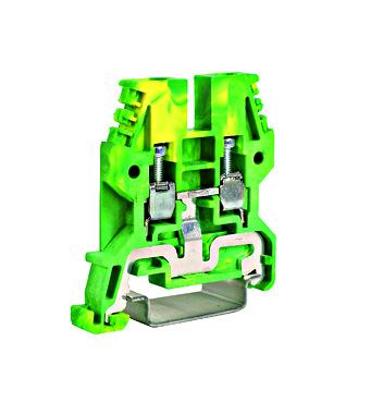 Redna stezaljka (vijčani priključak) 4mm², žuto/zelena