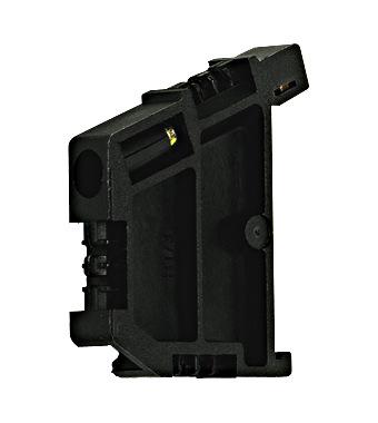 Krajnji držač, montaža na DIN nosač, tip BT/3, crni, vijčani