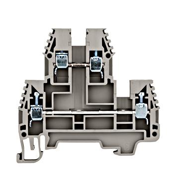 Dvokatna stezaljka (vijčani priključak) 2.5mm², siva