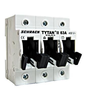 Fuse Loadbreak Disconnector TYTAN, 3-pole, 63A, D02