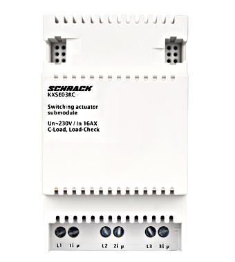 KNX Spínací ak.č.roz.modul' 3 x 230/400 V AC' 16 AX, C zátěž