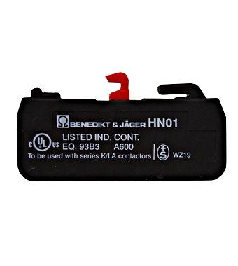 Pomoćni kontakt 3A (230V, AC15), 10A (690V, AC1), 1 N/C