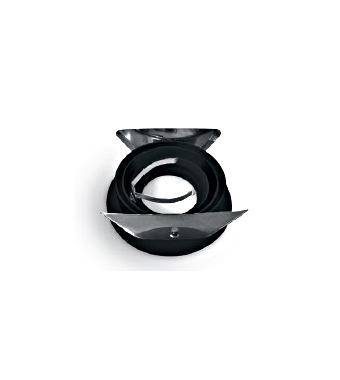 Punto-A/AL MR16 GU10 <50W IP20 bladveren zwart