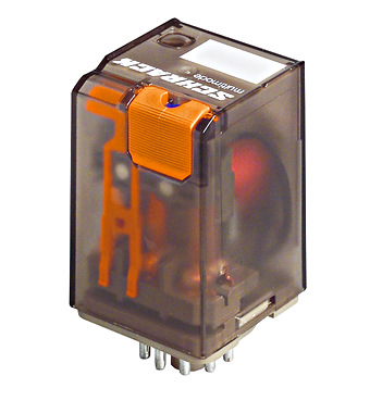 Plug-in Relay 11 pin 3 C/O 24VAC 10A, series MT - Online Shop
