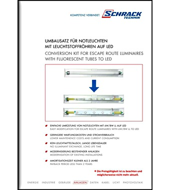 Conversion Kit For Erl With Fluorescent Tubes To Led
