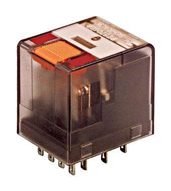 Minijaturni relej, 4C/O, 6A, 230VAC, serije PT