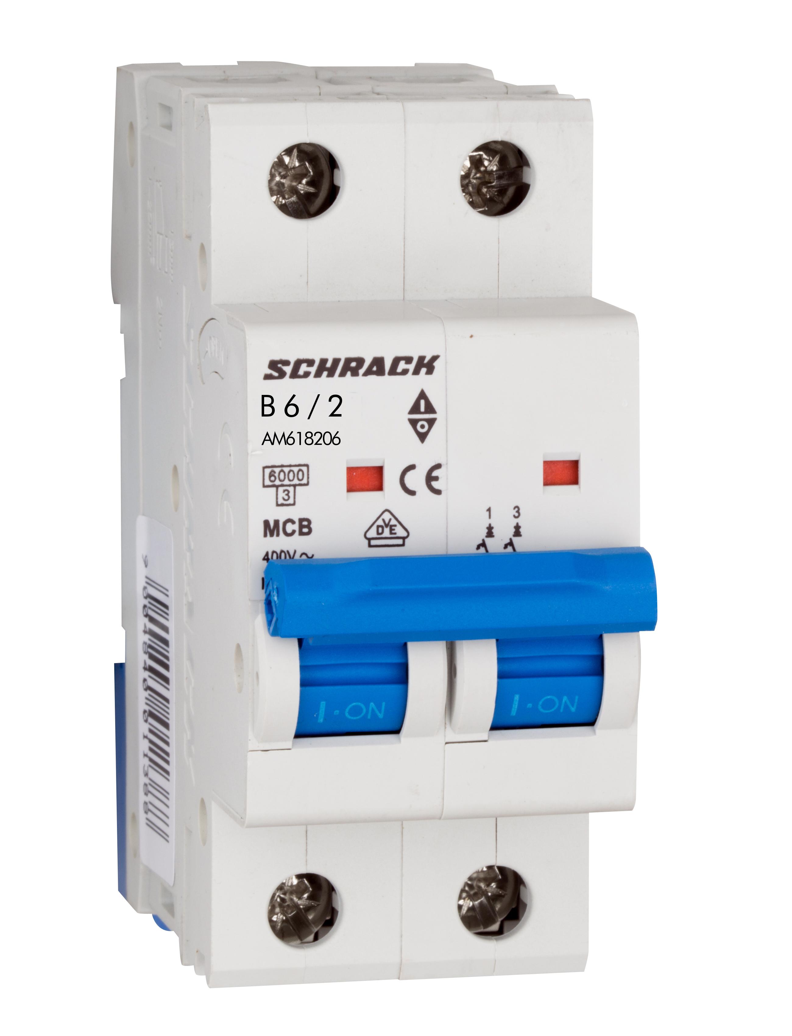 Miniature Circuit Breaker Mcb Amparo 6ka B 6a 2 Pole Online Mccb Shop Schrack Technik International