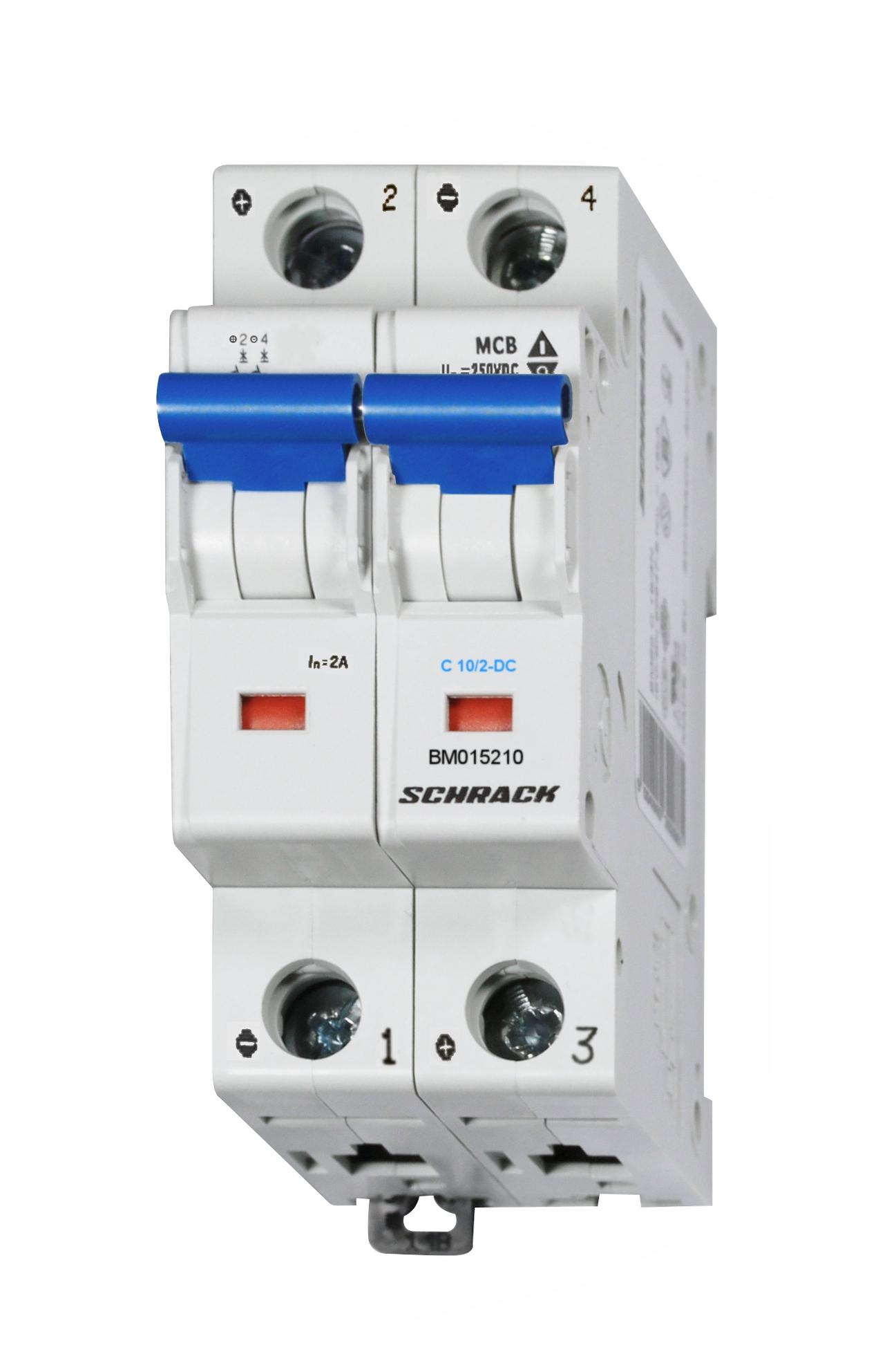 Miniature Circuit Breaker Mcb Dc C10 2 10ka Online Shop Arc Fault Wiring Diagram Also Pv On Schrack Technik International