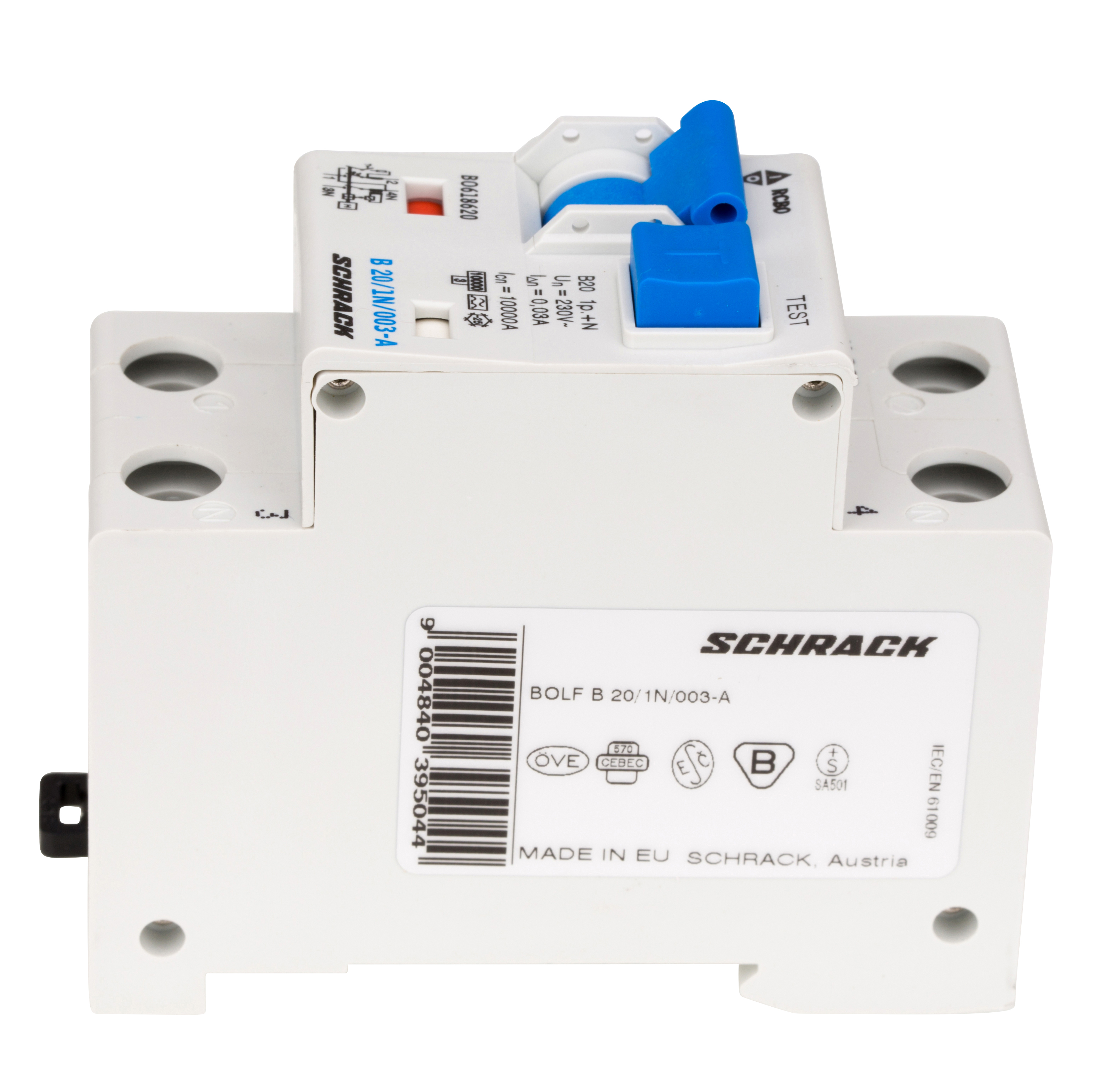 Terrific Combined Mcb Rcd Rcbo B20 1 N 30Ma Type A Online Shop Schrack Wiring 101 Mecadwellnesstrialsorg