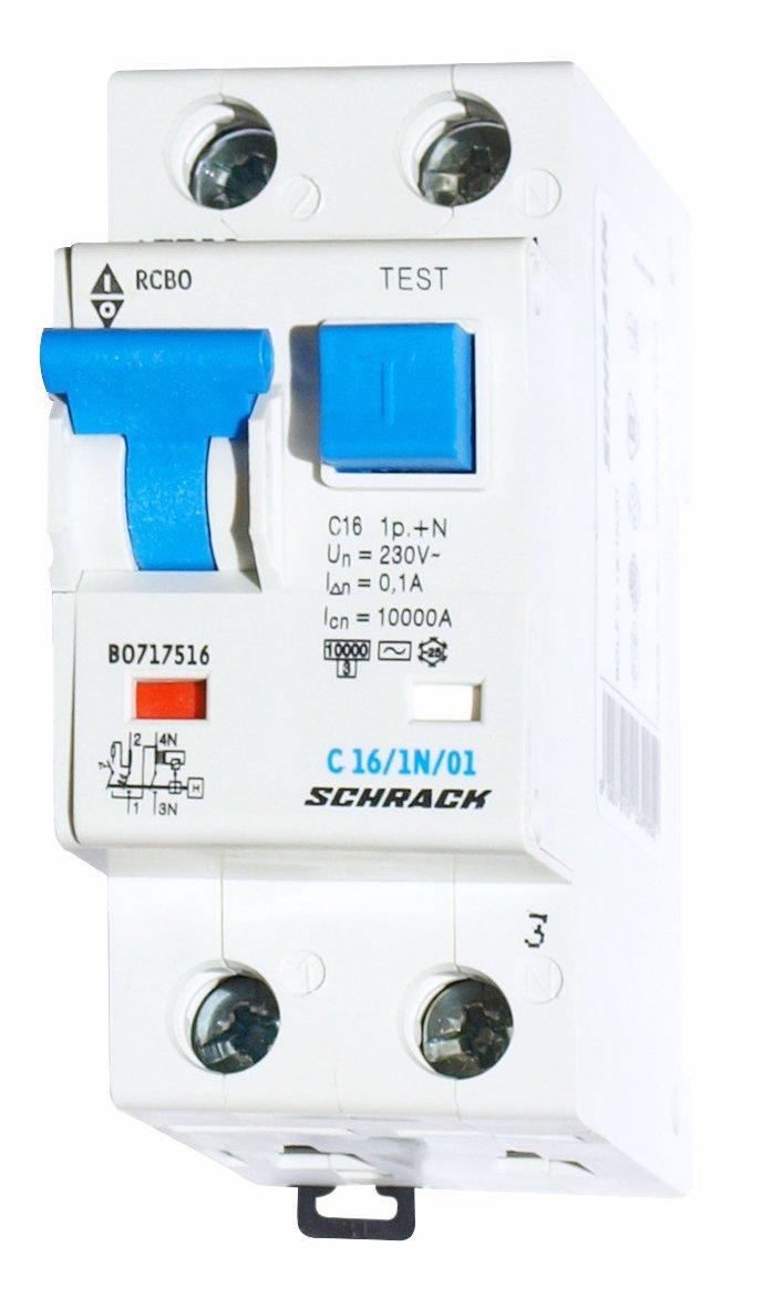 Combined Mcb Rcd Rcbo C16 1 N 100ma Type Ac Online Shop Socket Wiring Diagram Schrack Technik International