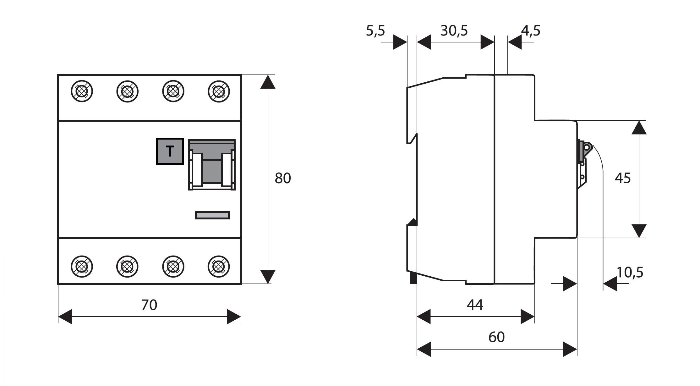 FI-Schalter, 40A, 4-polig, 30mA, vsf., Bauart G, Typ AC - Online ...
