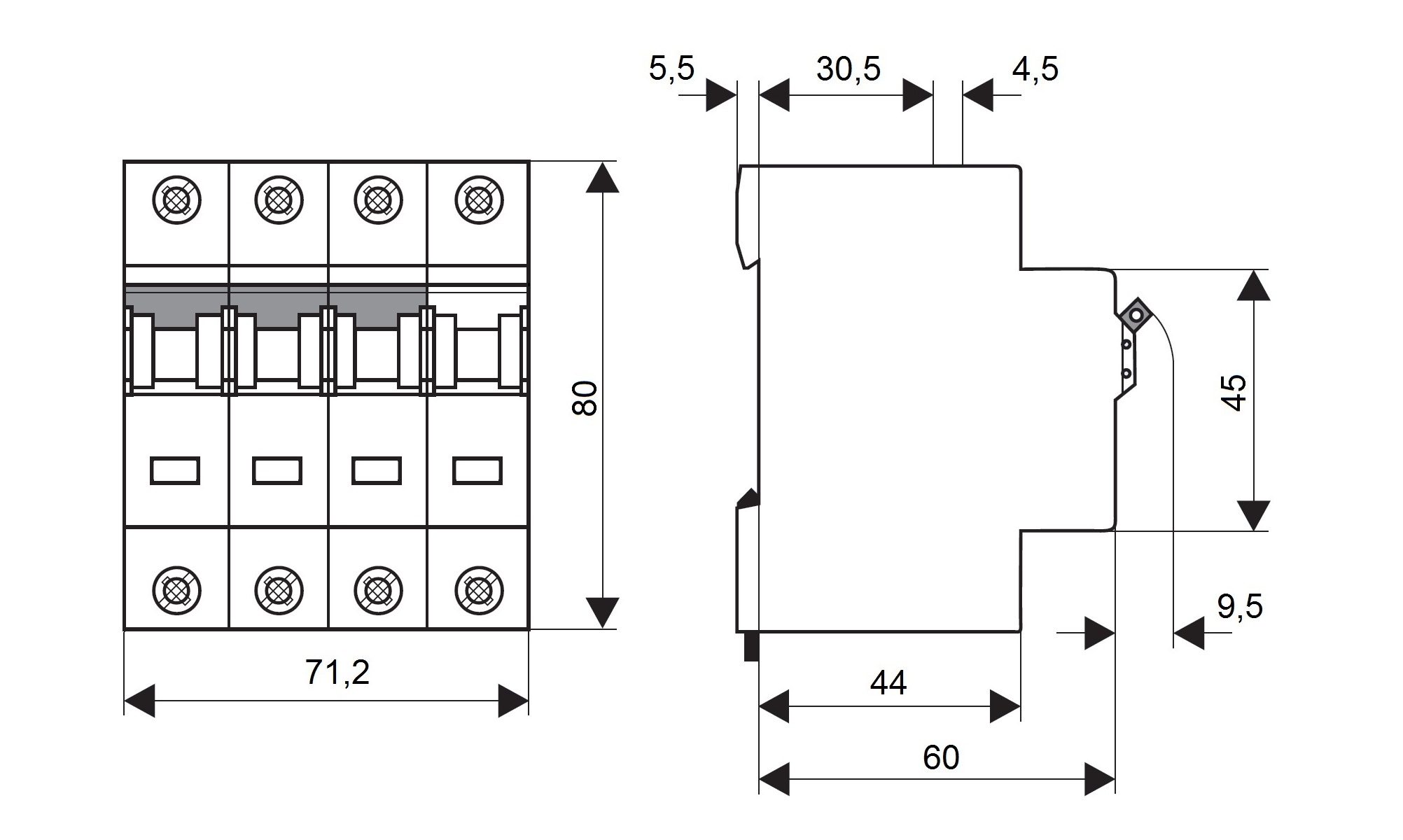 Miniature Circuit Breaker Mcb C32 3 N 10ka Online Shop A9f54132 1 Pole 32a Type C Curve Schrack Technik International