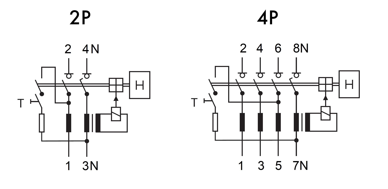 Schaltplan Fi Schalter Anschliessen 2 Polig - Wiring Diagram