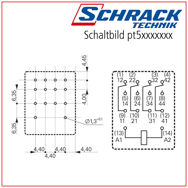 Schrack Relay Wiring Diagram | Wiring Diagram